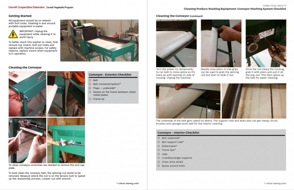 Conveyor Washing System Checklist center pages