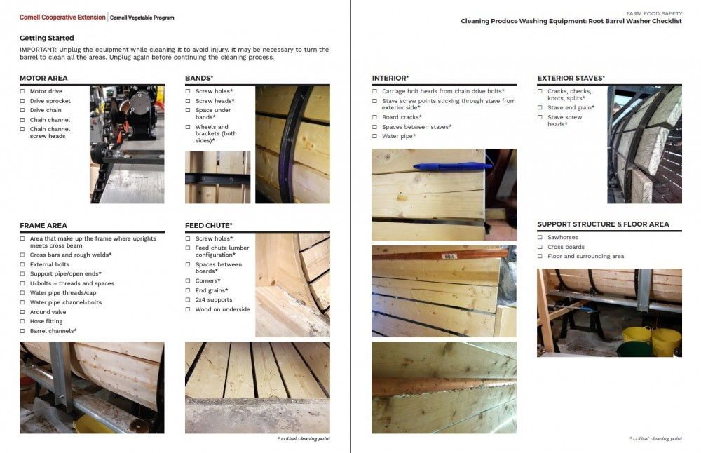 Inside pages - Root Barrel Washer Checklist