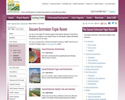 SARE Season Extension Topic Room: Current Research from Across the Nation