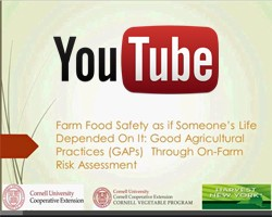 Video: Farm Food Safety as if Someone's Life Depended On It