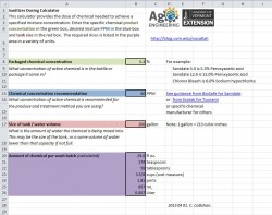 Sanitizer Dose Calculation Spreadsheet