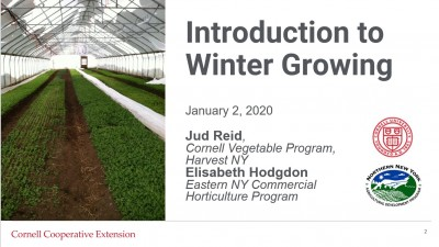 Introduction to Winter Growing Webinar